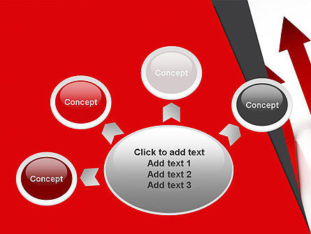 Red Arrows Moving Up PowerPoint Template Slide 7