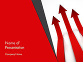 Red Arrows Moving Up PowerPoint Template#1