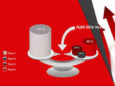 Red Arrows Moving Up PowerPoint Template#10