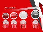 Red Arrows Moving Up PowerPoint Template#13