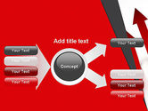 Red Arrows Moving Up PowerPoint Template#14