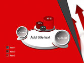 Red Arrows Moving Up PowerPoint Template#16
