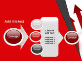 Red Arrows Moving Up PowerPoint Template#17
