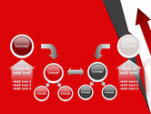 Red Arrows Moving Up PowerPoint Template#19