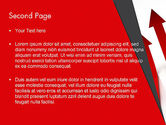 Red Arrows Moving Up PowerPoint Template#2