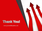 Red Arrows Moving Up PowerPoint Template#20