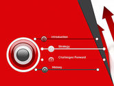 Red Arrows Moving Up PowerPoint Template#3