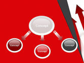 Red Arrows Moving Up PowerPoint Template#4