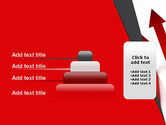 Red Arrows Moving Up PowerPoint Template#8