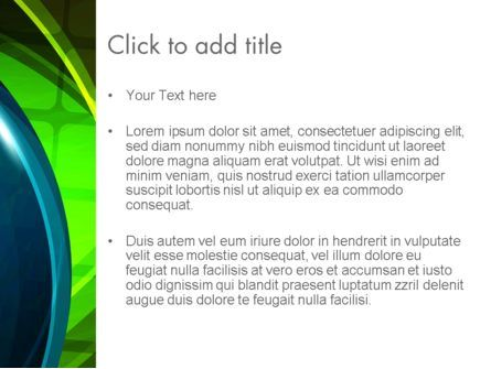 Blue and Green Abstract Arcs PowerPoint Template, Slide 3, 13065, Abstract/Textures — PoweredTemplate.com