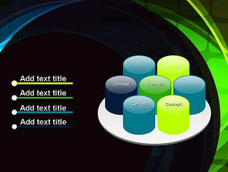 Blue and Green Abstract Arcs PowerPoint Template Slide 12