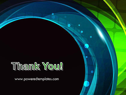 Blue and Green Abstract Arcs PowerPoint Template Slide 20