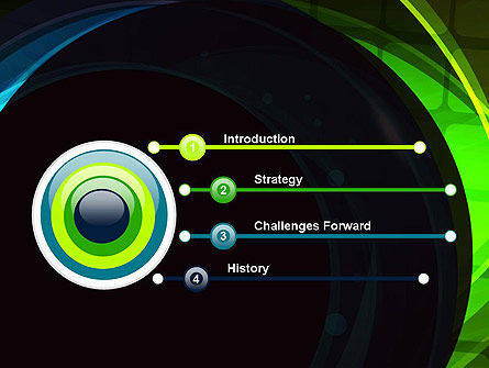 Blue and Green Abstract Arcs PowerPoint Template Slide 3