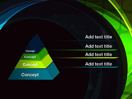 Blue and Green Abstract Arcs PowerPoint Template Slide 4