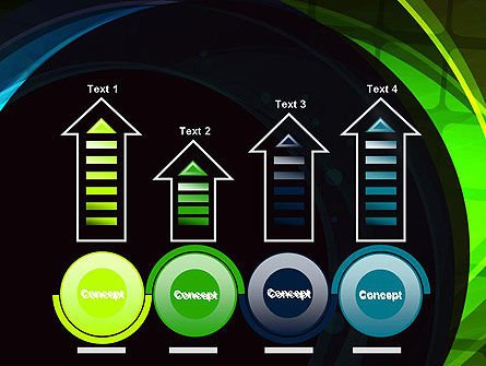 Blue and Green Abstract Arcs PowerPoint Template Slide 7