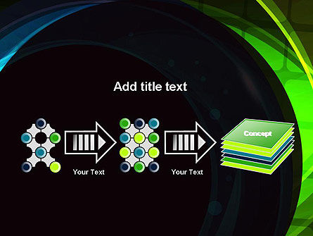 Blue and Green Abstract Arcs PowerPoint Template Slide 9