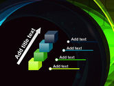 Blue and Green Abstract Arcs PowerPoint Template#14