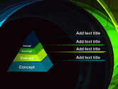 Blue and Green Abstract Arcs PowerPoint Template#4