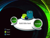 Blue and Green Abstract Arcs PowerPoint Template#6