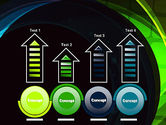 Blue and Green Abstract Arcs PowerPoint Template#7