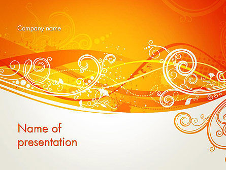 Abstract/Textures: Orange Background with Patterns PowerPoint Template #13066