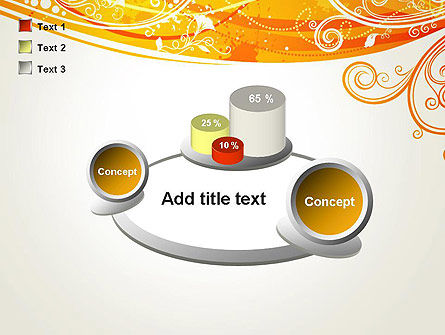 Orange Background with Patterns PowerPoint Template Slide 16