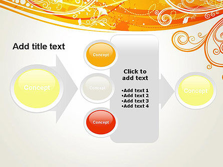 Orange Background with Patterns PowerPoint Template Slide 17