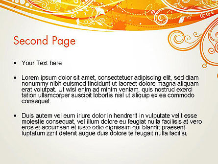 Orange Background with Patterns PowerPoint Template, Slide 2, 13066, Abstract/Textures — PoweredTemplate.com