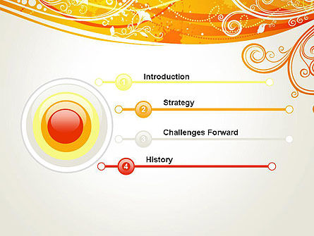 Orange Background with Patterns PowerPoint Template, Slide 3, 13066, Abstract/Textures — PoweredTemplate.com