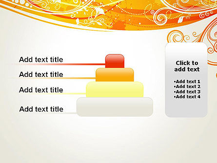 Orange Background with Patterns PowerPoint Template Slide 8