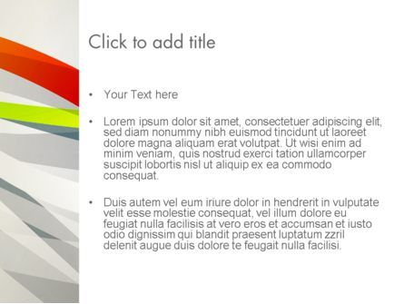 Streaming Stripes PowerPoint Template, Slide 3, 13067, Abstract/Textures — PoweredTemplate.com