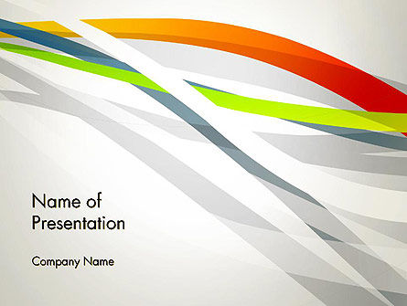 Streaming Stripes PowerPoint Template, 13067, Abstract/Textures — PoweredTemplate.com