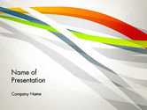 Abstract/Textures: Streaming Strepen PowerPoint Template #13067