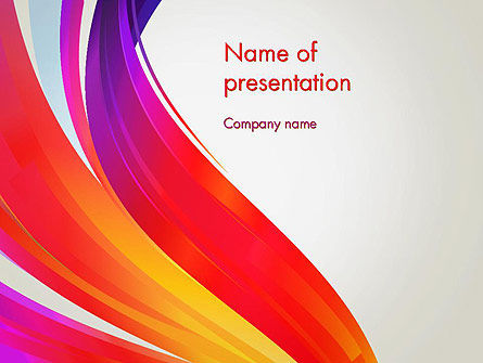Abstract/Textures: Phoenix Tail Abstract PowerPoint Template #13069