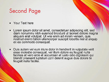 Phoenix Tail Abstract PowerPoint Template Slide 2