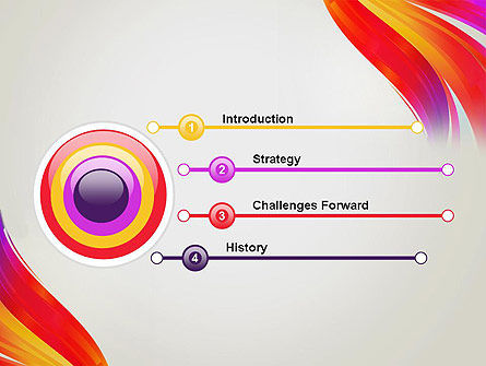 Phoenix Tail Abstract PowerPoint Template Slide 3