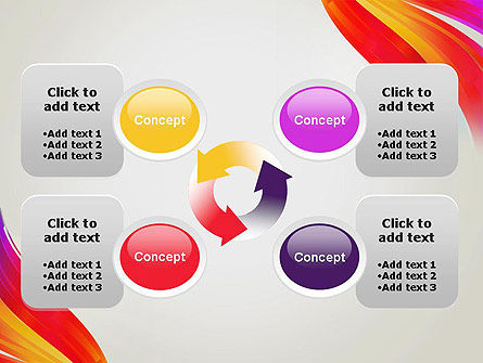 Phoenix Tail Abstract PowerPoint Template Slide 9