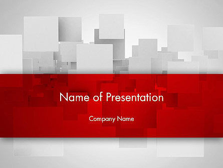 Squares in Gray Space PowerPoint Template