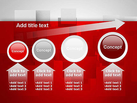 Squares in Gray Space PowerPoint Template Slide 13