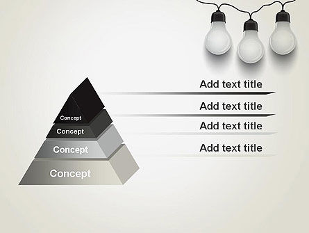 Three White Lamps in Garland PowerPoint Template Slide 12