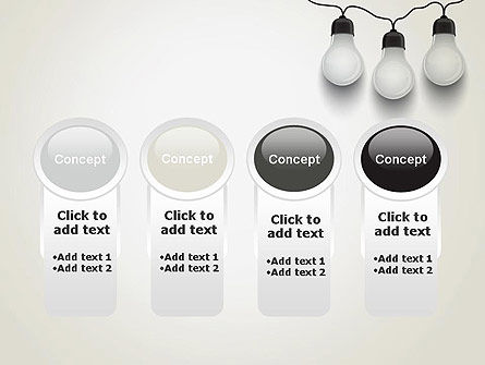 Three White Lamps in Garland PowerPoint Template Slide 5