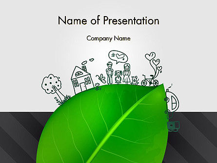 Green Environment Concept PowerPoint Template, 13072, Nature & Environment — PoweredTemplate.com