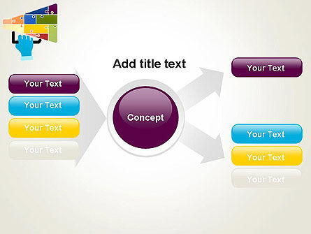 Megaphone Puzzle PowerPoint Template Slide 14