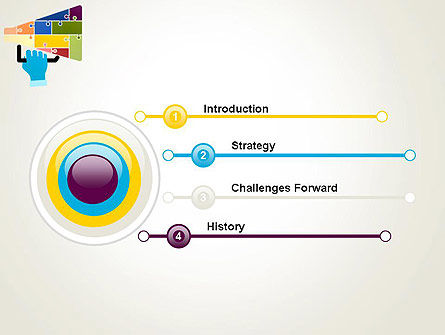 Megaphone Puzzle PowerPoint Template, Slide 3, 13073, Careers/Industry — PoweredTemplate.com