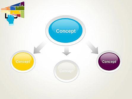 Megaphone Puzzle PowerPoint Template Slide 4