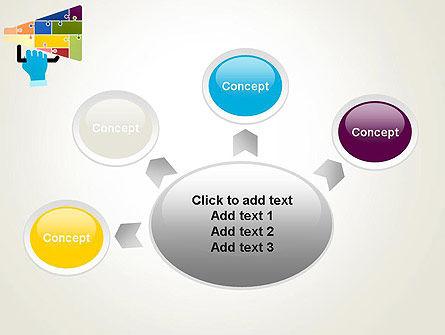 Megaphone Puzzle PowerPoint Template Slide 7