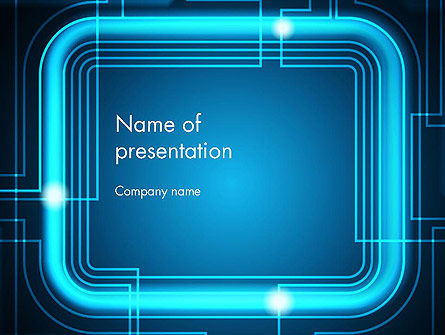 Abstract/Textures: Neon Frame Abstract PowerPoint Template #13074