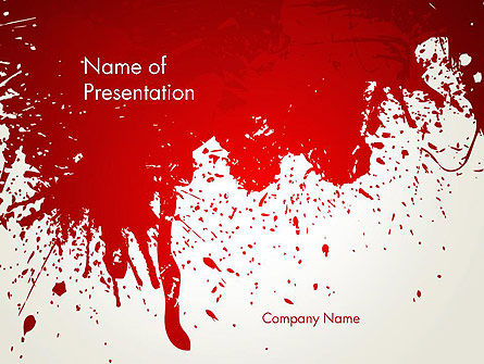 Abstract/Textures: Murder PowerPoint Template #13077