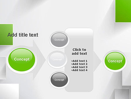 Green and Gray Squares in Space PowerPoint Template Slide 17