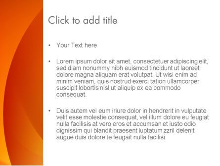 Orange Abstract Arcs PowerPoint Template, Slide 3, 13079, Abstract/Textures — PoweredTemplate.com
